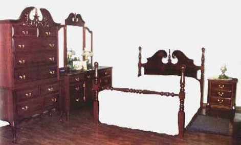 Amish peddler custom handcrafted amish furniture for Queen anne style bedroom furniture