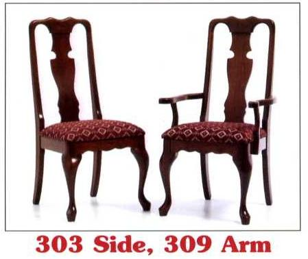 queen anne chair back styles